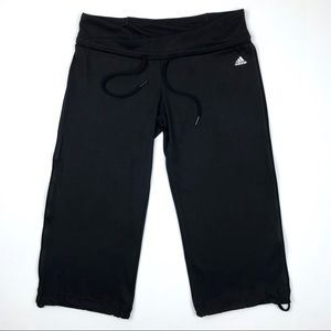 Adidas Black Crop Workout Pants Cinch Leg Size S